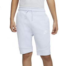 Nike Tech Fleece short JR offwhite/blauw (816280-085)