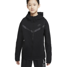 Nike Tech Fleece vest JR zwart (CU9223-010)