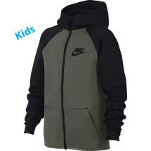 Nike tech fleece vest JR groen dessin (AR4020-380)