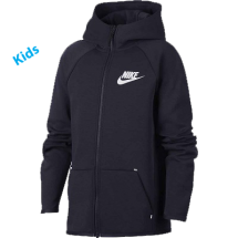 Nike tech fleece veste blauw (AR4020-451)